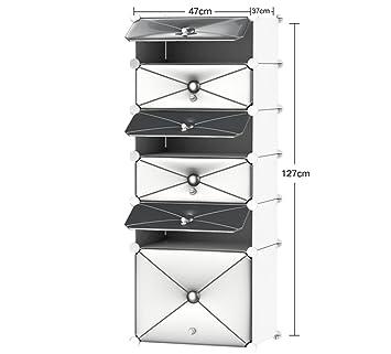 Casier à chaussures simple à domicile à plusieurs étages - espace d'économie espace dortoir rangement multifonctionnel de la petite chaussure en plastique ( Couleur : Silver , taille : 47 37 127cm )