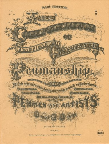 Ames' Compendium of Practical and Ornamental Penmanship, Giving More Than 20 Entire Alphabets with Numerous Deisgns for Engrossed Resolutions, Testimonials, Certificates, Titl-ePages, Monograms, Miscellaneous Designs, &c. For the Use of - Certificate Resolution