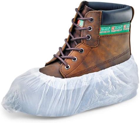 100-200 PCS Disposable PVC Plastic Over Shoes Shoe Boot Covers Carpet Protectors