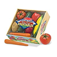 Melissa & Doug Playtime Produce Vegetables Play Food Set With Crate (7 piezas)