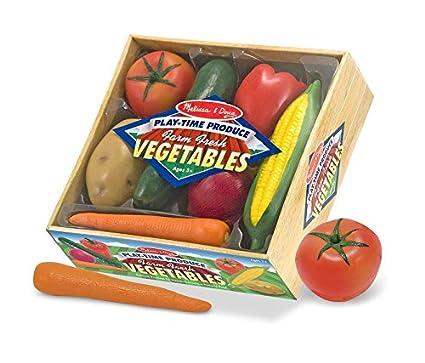 Amazoncom Melissa Doug Playtime Produce Vegetables Play Food Set
