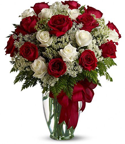 Chicago Flower Co. - Love's Divine Bouquet - 2Dz Long Stemmed Roses - Fresh and Hand Delivered by Chicago Flower Company