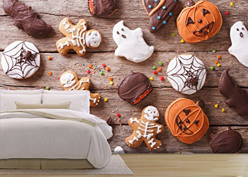 Festive Gingerbread Halloween on the Table Horizontal View from above