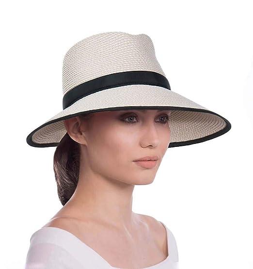 086b3dea3 Eric Javits Women's Headwear Hat Sun Crest One Size Cream/Black:  Amazon.co.uk: Clothing