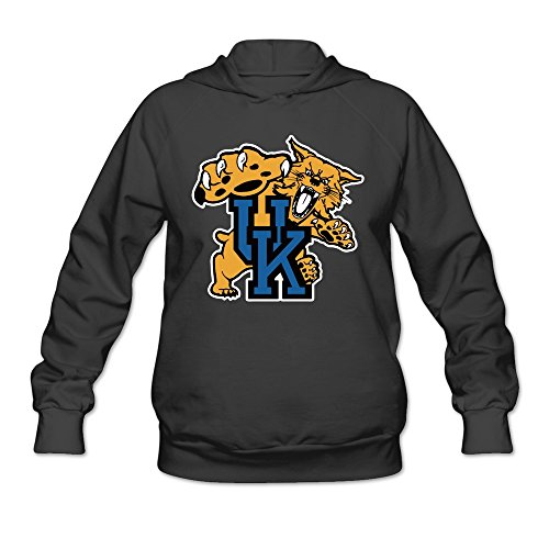 Womens UK Wildcats Hoodies Black 100% Cotton