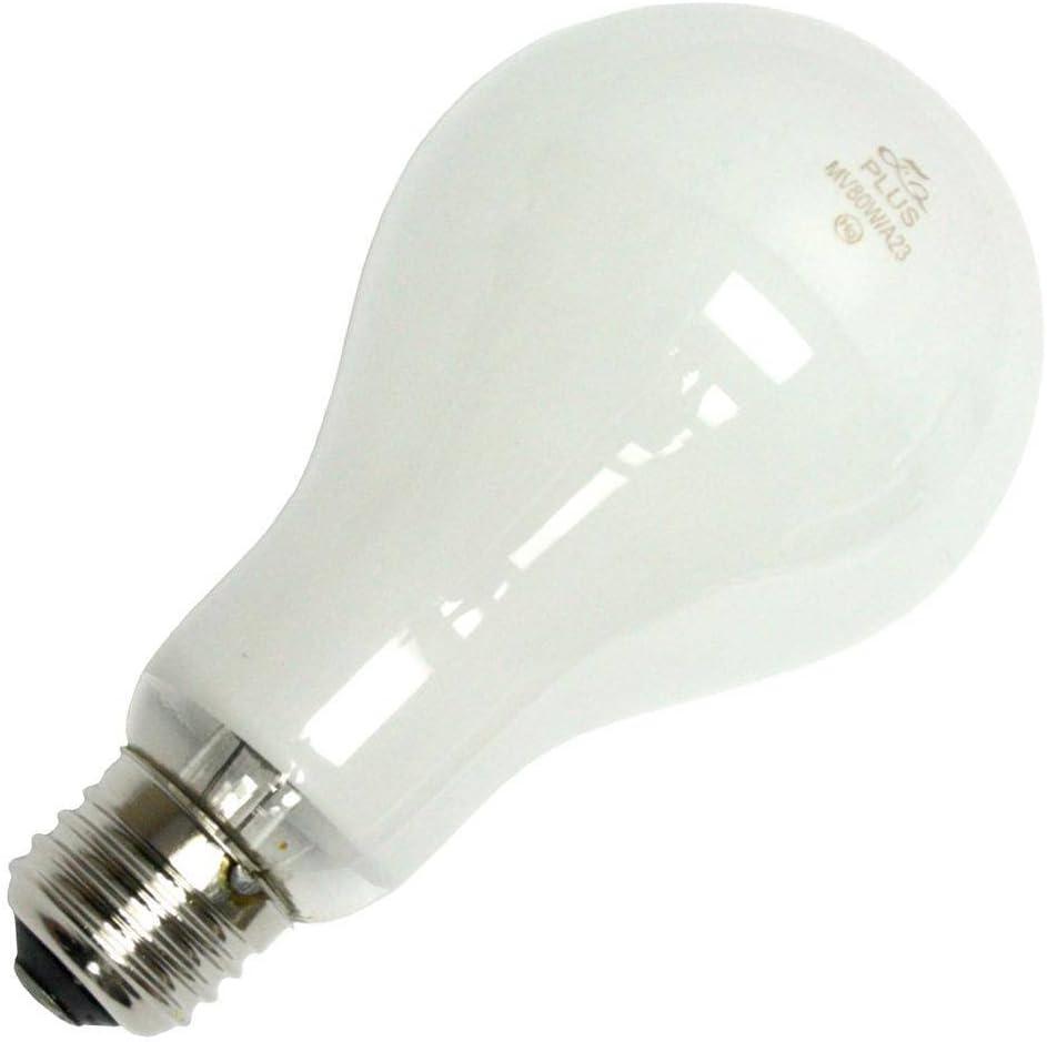 Plusrite 2309 MV80//DX//A23 Mercury Vapor Light Bulb