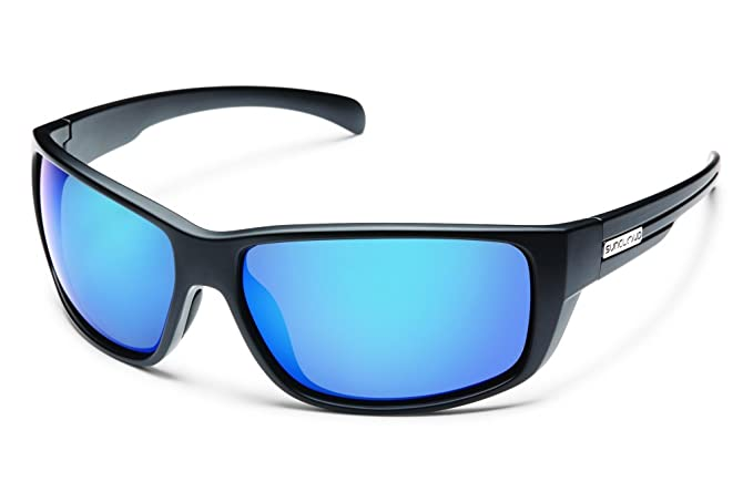 a20281757dd88 Image Unavailable. Image not available for. Colour  Suncloud Milestone Polarized  Sunglass with Polycarbonate Lens Matte Black Frame Blue Mirror