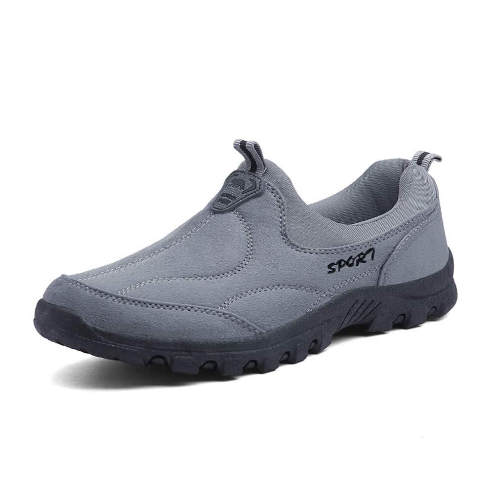 Ywqwdae Mens Mens Mens Non Slip Schuhe warme weiche Sohle Rutschfeste Outdoor Walking Kletterschuhe (Farbe   Grau, Größe   EU 45) 0dce82