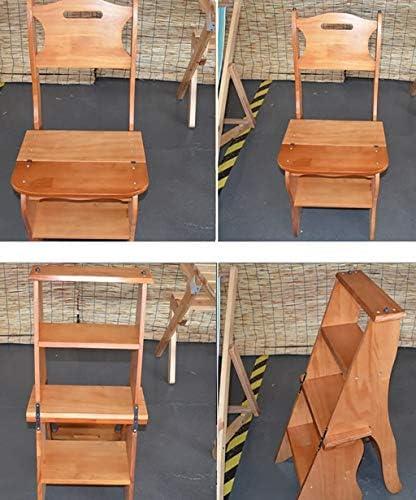 Marche Pied Bois 4-Couche Multi-Fonction Jardinière Pliable échelle Accueil Seat Escabeau à Double Usage en Bambou en Rack Cuisine Croissant Chaise Tabourets de Salle de Bain