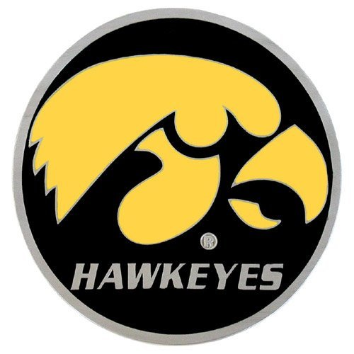 NCAA Iowa Hawkeyes Sports Team Logo Hitch Cover Class III Wire Plugs ()