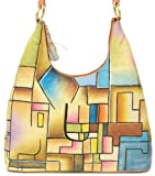 ZIMBELMANN SELINA Genuine Nappa Leather Hand-painted Hobo Shoulder Bag