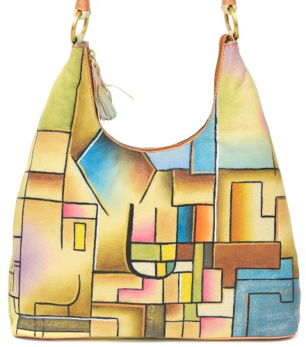 ZIMBELMANN SELINA Genuine Nappa Leather Hand-painted Hobo Shoulder Bag by Zimbelmann