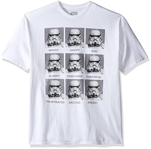 Star Wars Stormtroopers Moods Today I Am... Mens Weiß T-Shirt