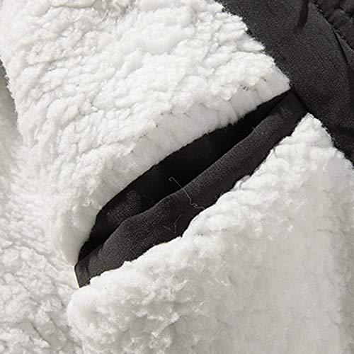 con con con Lunga M~XXXXXL Tinta Tinta feiXIANG Cotone Spessore Felpa Velluto a con Giacca di Nero Uomo da Cappuccio Unita Cappotto R più Inverno Cappuccio Cappotti Manica 0wBq0ZC