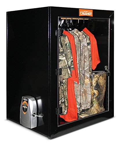 Scent Crusher Metal Closet with Ozone Generator - Destroys Odors Within 30 mins, Lockable/Wall Mountable Permanent Storage for Hunting Gear