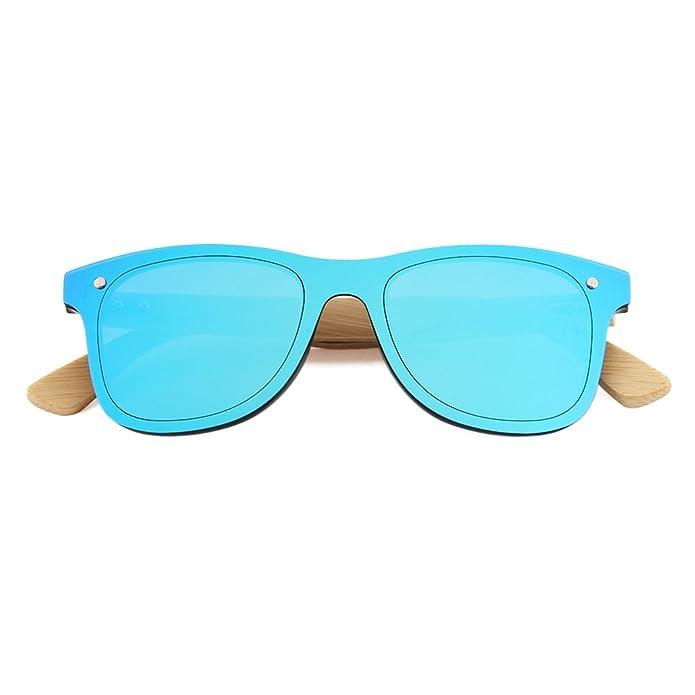 58e27574de Buho Eyewear Lentes de Sol Modelo Niza Unisex Bamboo Espejado Azul:  Amazon.com.mx: Ropa, Zapatos y Accesorios