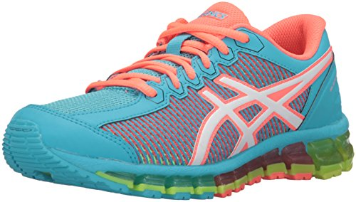 ASICS GEL-Quantum 360 CM GS Running Shoe (Little Kid/Big Kid), Aquarium/White/Flash Coral, 3.5 M US Big Kid by ASICS
