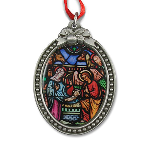 Stained Glass Nativity Ornament IMC-Retail