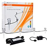 SYLVANIA LIGHTIFY by Osram - Smart Home- LED Landscape Lighting Set LIGHTIFY LED Gardenspot Mini RGB / LED Outdoor lighting kit with removable stakes / Includes 9 lights and power supply