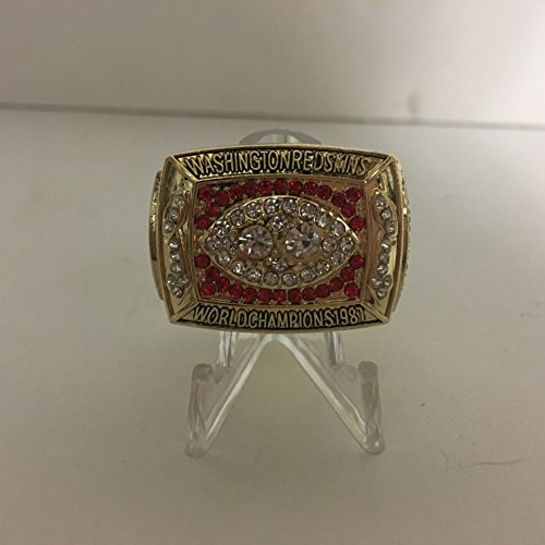 - 1987 Dexter Manley Washington Redskins High Quality Replica 1988 Super Bowl XXII Ring-Gold Color Size 11
