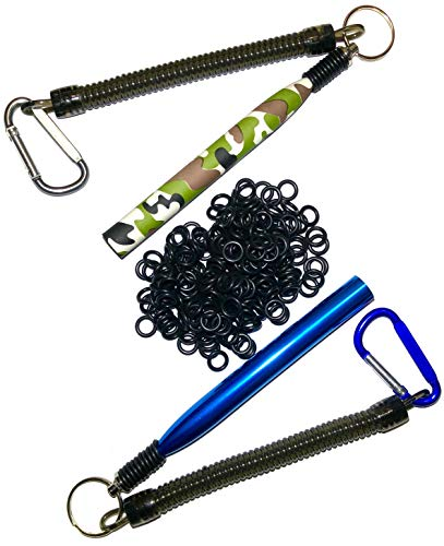 DOUBLEDUP 2 Pack Wacky Rig Tools Plus 220 O-Rings Includes Special Edition Camouflage Style Fishing Wacky Rig Senko Tool