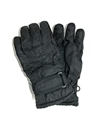 CTM® Toddlers Thinsulate Lined Water Resistant Winter Gloves, Black