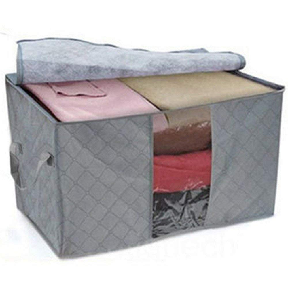 Blanket Pink Clothes Quilted Fabric Dustproof Organizer Closet Storage Box Kuber Industries Foldable Storage Bag