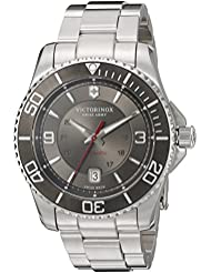 Victorinox Mens Maverick Swiss Automatic Stainless Steel Casual Watch, Color:Silver-Toned (Model: 241705)