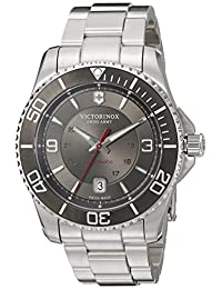 Victorinox Men's 241705 Maverick Analog Display Swiss Automatic Silver Watch