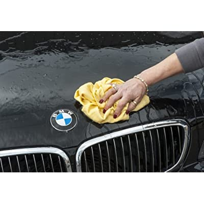 Chamois Pro Synthetic, Water Absorbent Drying Towel - Lint Free, Scratch Free, Fast Drying, Washable Detailing Cloth For Cars, Trucks, RV's, Motorcycles And Recreational Vehicles. Dries Better Than Microfiber Or Natural Leath