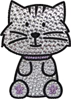 Love Your Breed Rhinestone Sticker, Grey Tabby Cat