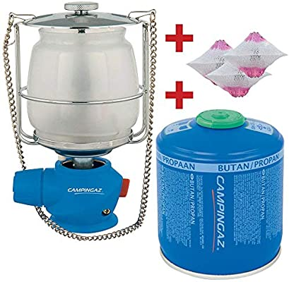 Juego de lámpara de Acampada Lumostar Plus PZ Bricolemar con 3 Camisas S Campingaz y Cartucho de Gas CV300 Plus Kabra: Amazon.es: Deportes y aire libre