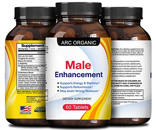 45 mg Top Male Enhancement Comprimés pour Hommes - Tongkat Ali Extrait + Racine de Maca en Poudre à base de plantes Booster la Libido – Augmenter l'Endurance Meilleur du Sexe en Voiture Amélioration de Pilules + Libido Enhancer – Par Arc Organique