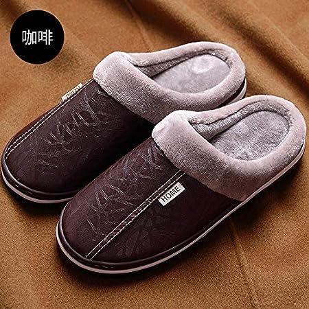 Calde e Calde in Felpa di Cotone Imbottito Impermeabile Antiscivolo YMFIE Pantofole Invernali in Cotone da Uomo e da Donna