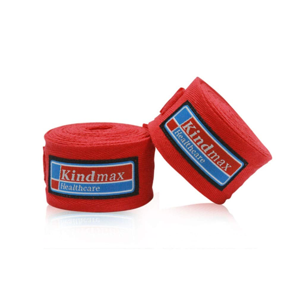 XIAONINGMENG Boxing Bandage, Cotton Hand Strap, Muay Thai Boxing Wrap Band, Black/White/Blue/Red/Yellow, 3m/5m, The Best Choice for Boxing Enthusiasts (Color : Red, Size : 5 Meters) by XIAONINGMENG