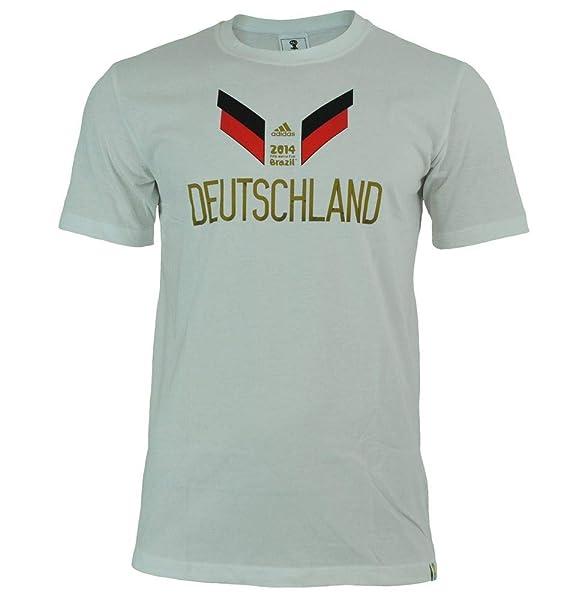 Adidas Germany Tee Hombres Copa Mundial de Brasil 2014 camisa Alemania camiseta blanca: Amazon.es: Ropa y accesorios