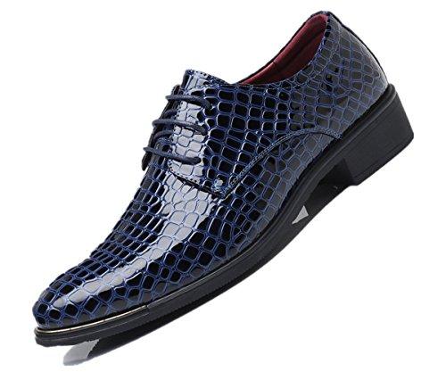 scarpe Uomo Fashion Dimensione scamosciato stile Inghilterra Blu particolarmente casuale Uomini Pelle PU Extra Grande Bebete5858 48 qPwSRaP1