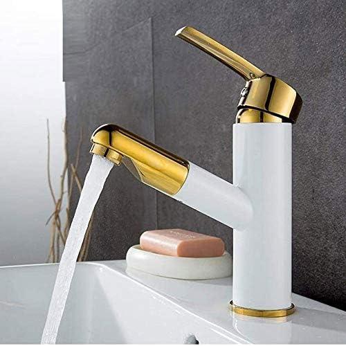 引き出し式キッチンのシンクの蛇口、浴室の洗面台の蛇口、ホットとコールドコントロール 銅材、キッチンバスルームに適し