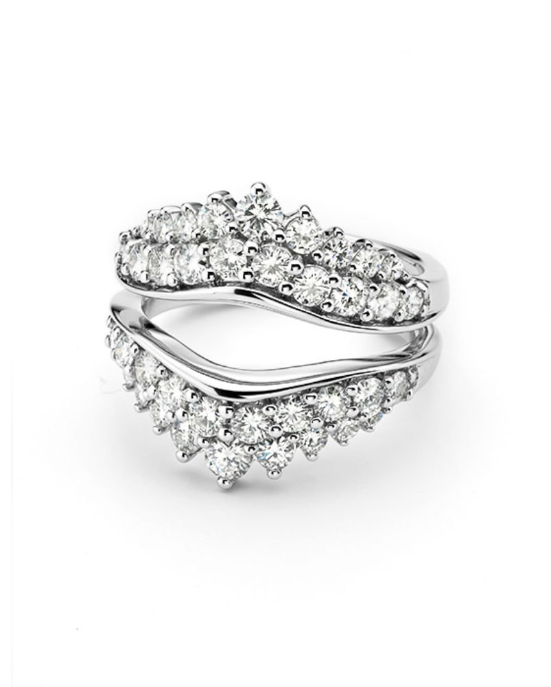 Forever Classic 14K White Gold Moissanite Band-size 7, 1.74cttw DEW By Charles & Colvard