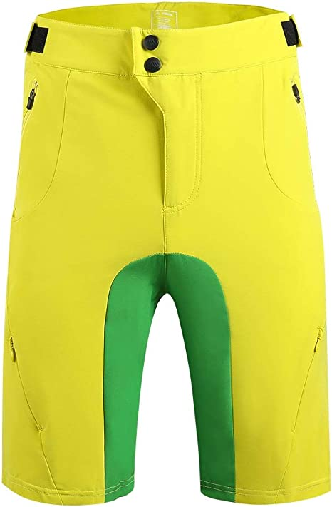 Pantaloncini MTB Uomo Pantaloncini Ciclismo Biciclette Bici MTB Pantaloni Shorts Traspirante Sciolto