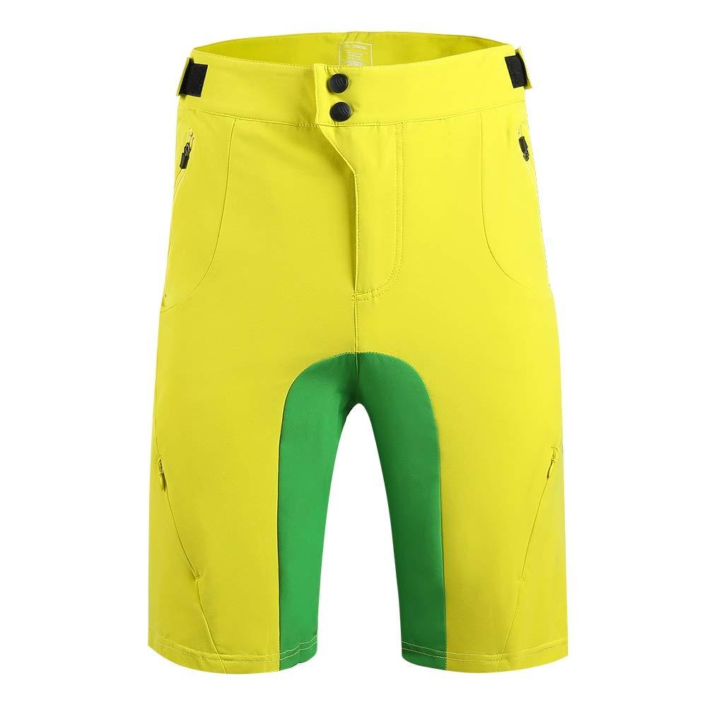 SAENSHING Pantalocini MTB Uomo Sportivi Ciclismo Traspiranti Tasche