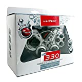 Cliptec Silver PC USB Dual Vibration 12 Buttons + 3 Funcational Button + 2 Analog Buttons Wired Game Controller Pad Gamepad Support PC Windows 98/2000/XP/Vista/7/8