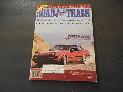 Road Track Oct 1981 Celica Supra; Datsun 240Z; Fiat Turbo Spider