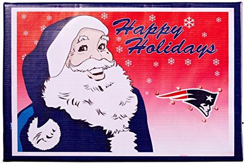 FOCO New England Patriots - Cartel Luminoso de Tela con diseño de Papá Noel