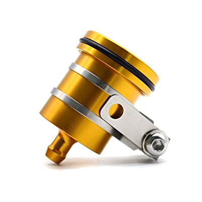 Motorcycle Brake Clutch Reservoir Cup Reservoir Bottle with Bracket for Yamaha YZF R1 R3 R6 R25 R125 Honda CBR600RR CBR1000RR CB650F CB1000R(Gold): Automotive