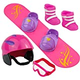 "Click N' Play CNP8331 Doll Snowboard Set and Accessories. Perfect For 18"" American Girl Dolls"