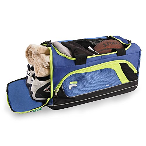 Gym Bag Advantage Compartment Lime Duffel Sports with Shoe Blue Small wxPRPpf