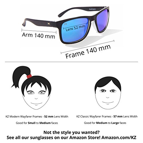 de Glossy Lens Revo Black KZ Red Lunettes adulte Frame soleil Full BfncnAqx1W