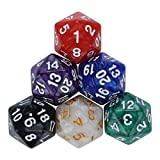 Futemo Dice Games 6/7/10pcs/Set Dice for TRPG Game Dungeons & Dragons Polyhedral D4-D20 Multi Sided Acrylic Dice – Great Toy, Game, Prize for Kids (A)