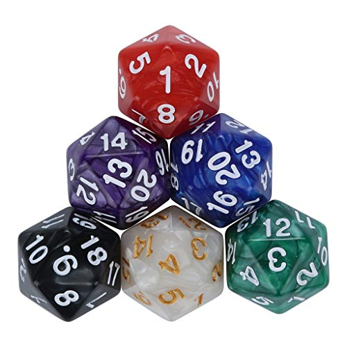 Alimao Dice For 2019 New TRPG Game Dungeons & Dragons Polyhedral D4-D20 Multi Sided Acrylic Dice